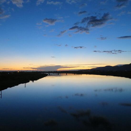 自然史の物語に満ちた神戸川