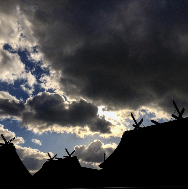冬の空と出雲大社