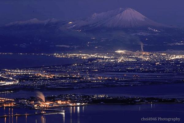 絶景!枕木山からの夜景