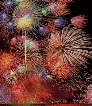 松江市最大の夏祭り「松江水郷祭湖上花火大会」♪